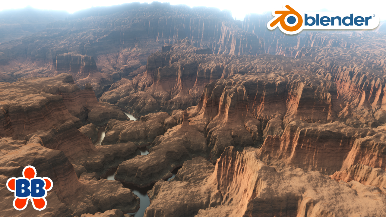 FAST Canyon Environment in Blender 2.8