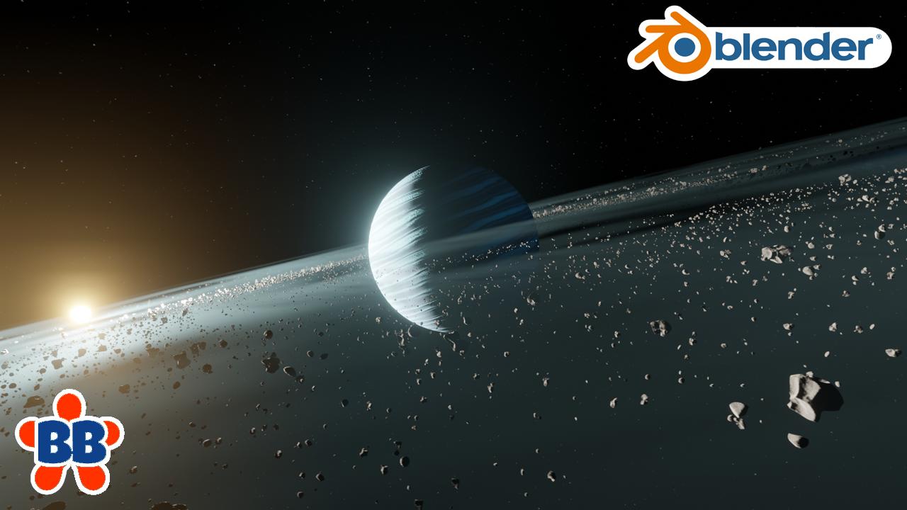 Blender Space Scene